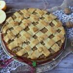 Šťavnaté jablkové pité s orechami