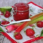 Jahodovo rebarborový chia džem
