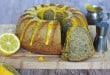 Maková bábovka s citrónovým coulis