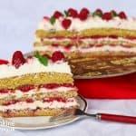 Pribináčiková torta s malinami
