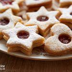 Špaldovo-mandľové linecké koláčiky