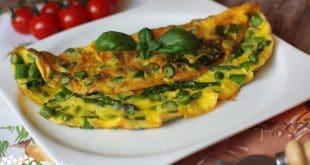 Špargľovo-parmezánová omeleta