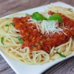 Vege boloňské špagety
